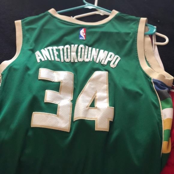 pretty nice 5e25e 73178 Authentic Giannis Antetokounmpo Bucks Jersey